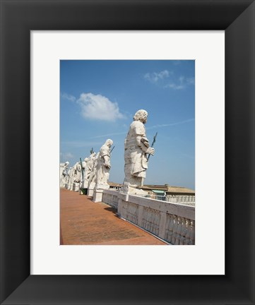 Framed Rome Statues of Saints on San Pietro on Roof Print