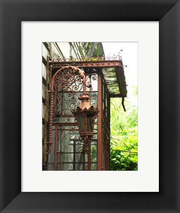 Framed Rusty Framework and Lamp Print