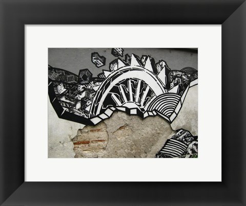 Framed Urban Graffitti Print
