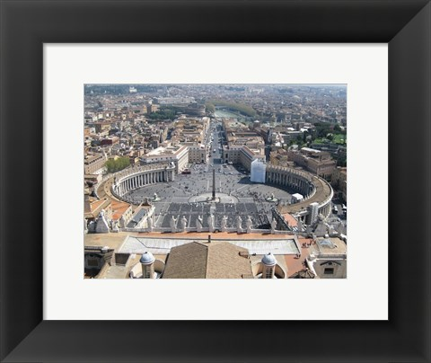 Framed Vatican View From Above Print