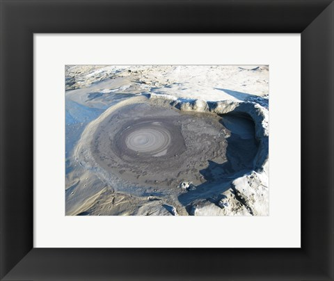 Framed Volcano Crater at Buzau Print