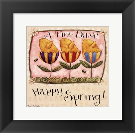 Framed Spring Chick Tulips Print
