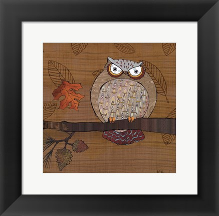 Framed Awesome Owls III Print