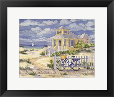 Framed Beach Cruiser Cottage II Print