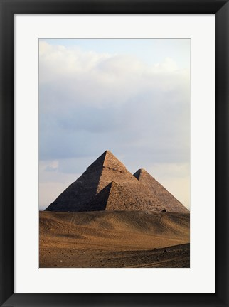 Framed Pyramids on a landscape, Giza, Egypt Print