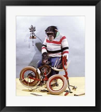 Framed Bicycle Assembly Print