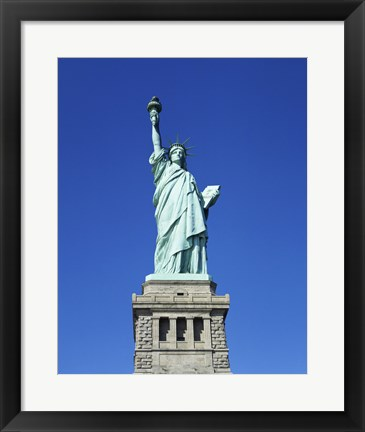 Framed Statue of Liberty, New York City, New York, USA Print