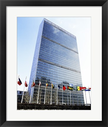 Framed United Nations, New York City, New York, USA Print