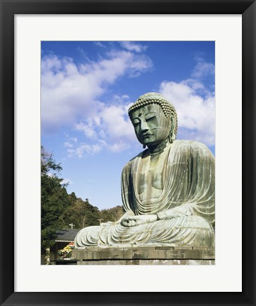 Framed Statue of Buddha, Kamakura, Japan Print
