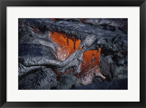 Framed Kilauea Lava Flow Kalapana Hawaii USA Print