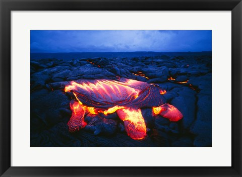 Framed Kilauea Volcano Hawaii Volcanoes National Park Hawaii USA Print