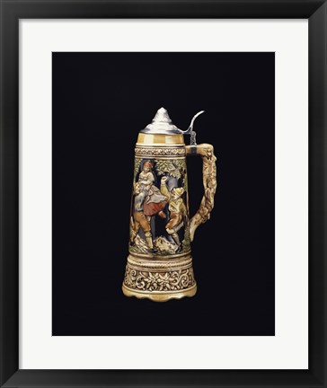 Framed Close-up of a beer stein Print