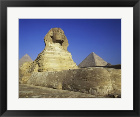 Framed Sphinx, Giza, Egypt Print
