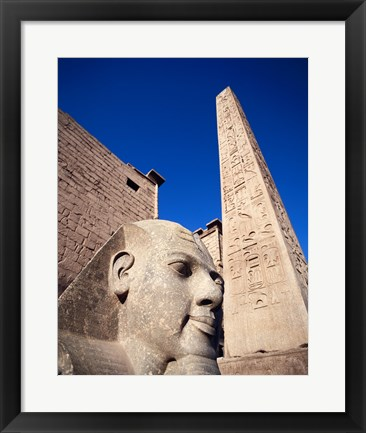 Framed Statue of Ramses II, Temple of Luxor, Luxor, Egypt Print
