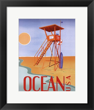 Framed Beach Watch II Print