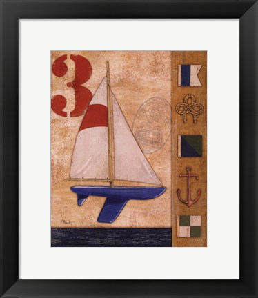 Framed Model Yacht Collage II Print