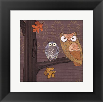 Framed Awesome Owls IV Print