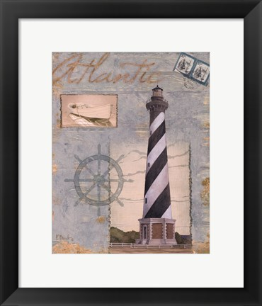 Framed Seacoast Lighthouse I Print