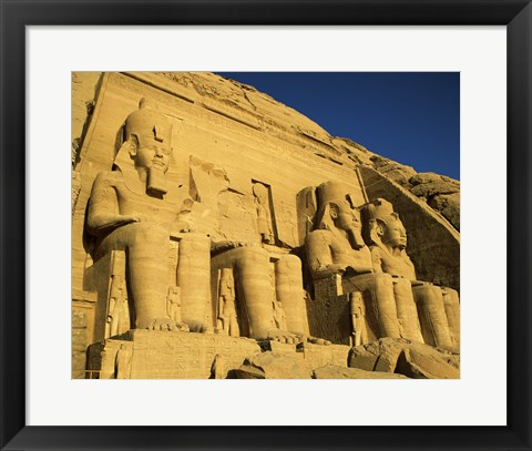 Framed Great Temple of Ramses II, Abu Simbel, Egypt Print