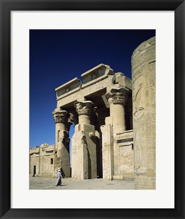 Framed Temple of Kom Ombo, Kom Ombo, Egypt Print