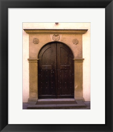 Framed Prague Door II Print