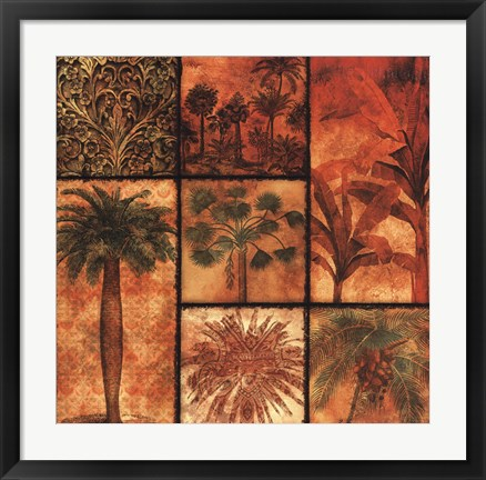 Framed Palm Patchwork II Print