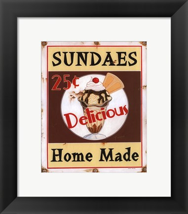 Framed Sundaes Print