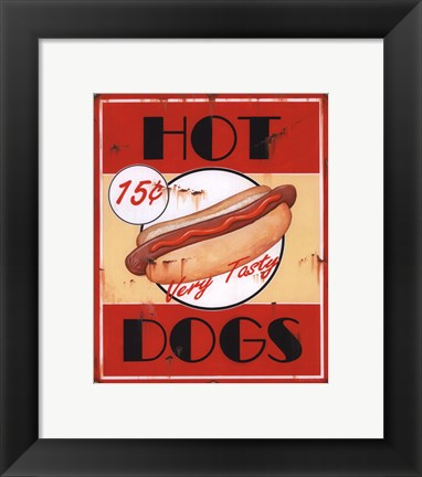Framed Hot Dogs Print