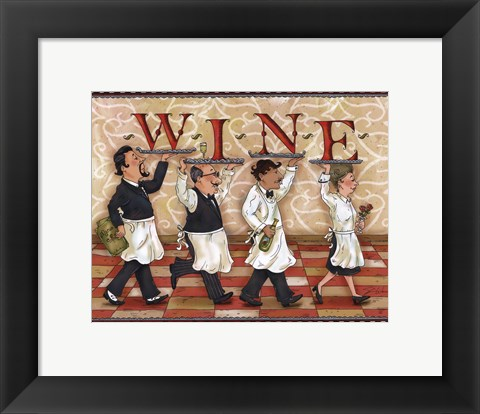 Framed Waiters Wine Print