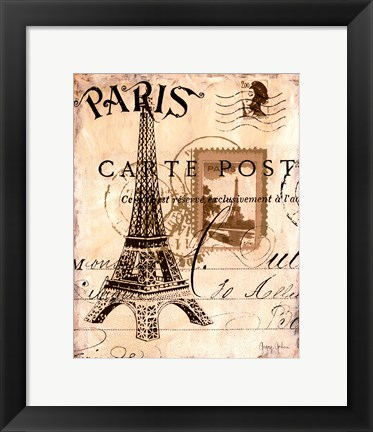 Framed Paris Collage I Print