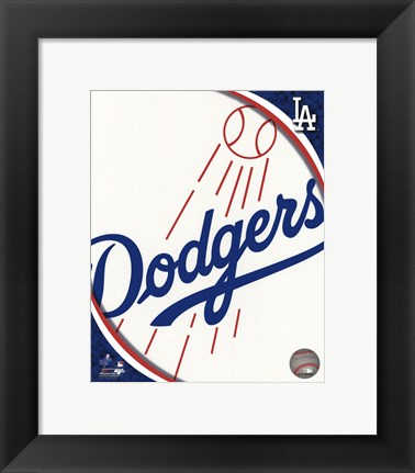 Framed 2011 Los Angeles Dodgers Team Logo Print