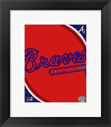 Framed 2011 Atlanta Braves Team Logo Print