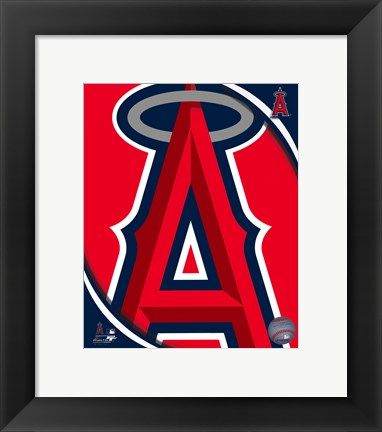 Framed 2011 Los Angeles Angels Team Logo Print