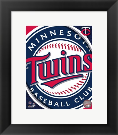 Framed 2011 Minnesota Twins Team Logo Print
