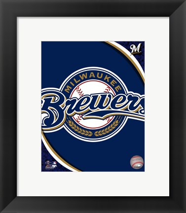 Framed 2011 Milwaukee Brewers Team Logo Print
