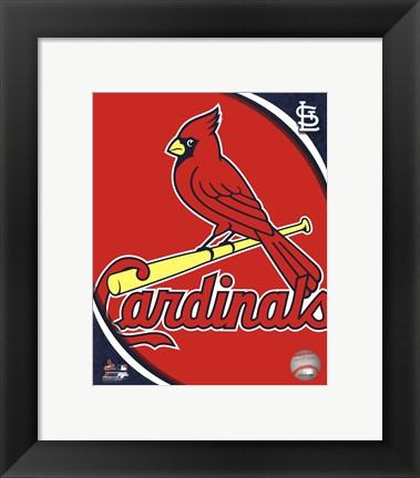 Framed 2011 St. Louis Cardinals Team Logo Print