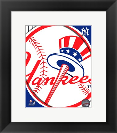 Framed 2011 New York Yankees Team Logo Print