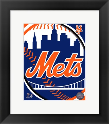 Framed 2011 New York Mets Team Logo Print