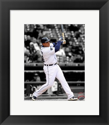 Framed Miguel Cabrera 2011 Spotlight Action Print