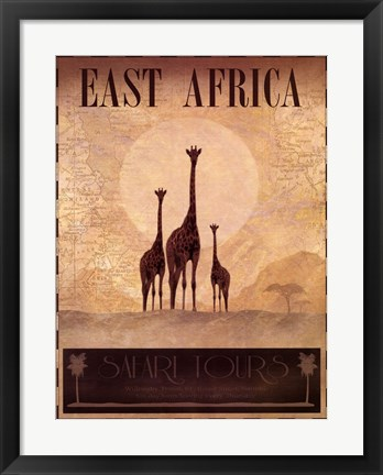 Framed East Africa Print