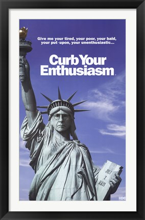 Framed Curb Your Enthusiasm - Statue of Liberty Print