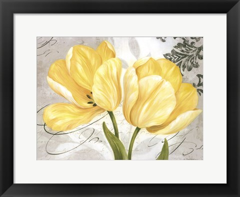 Framed Colori Yellow II Print