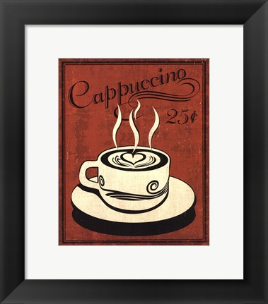 Framed Retro Coffee III Print