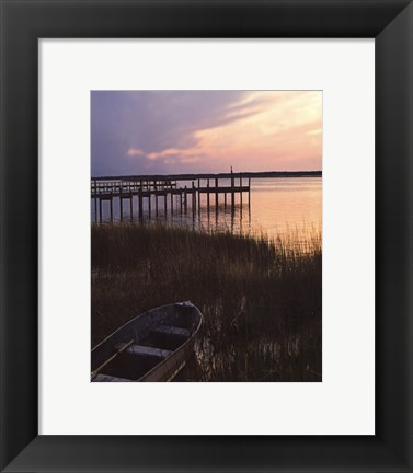 Framed Channel Sunset III Print