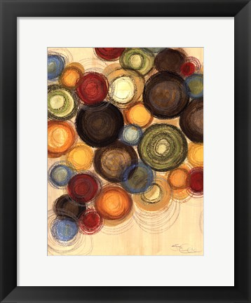 Framed Colorful Whimsy II Print