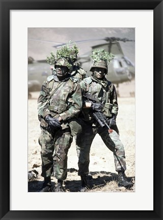 Framed Camouflage U.S. Marines Photograph Print