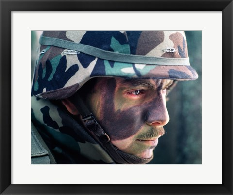 Framed Soldier Camouflage Print