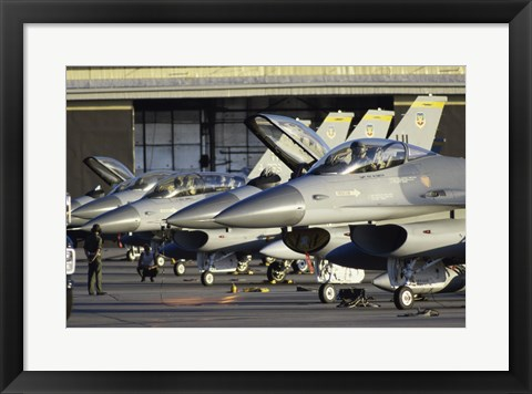 Framed U.S. Air Force F-16 Fighter Jets Hill Air Force Base Utah USA Print