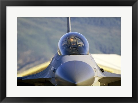 Framed F-16 Fighter Jet US Air Force Print