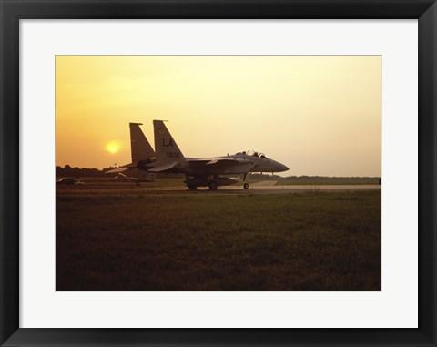 Framed US AIR FORCE, F-15 EAGLE FIGHTER JET Print